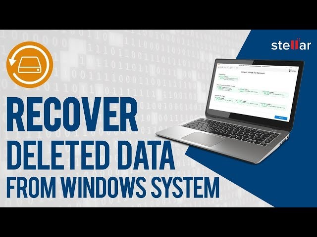 How to Recover Deleted Data with Stellar Phoenix Windows Data Recovery Professional? Official Video