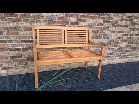 Gartenbank Bank Paolo von Hagebau 2-Sitzer Eukalyptusholz FSC Casaya witterungsbeständig unboxing