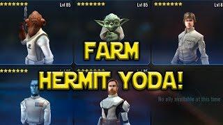 Star Wars: Galaxy Of Heroes - Farm Hermit Yoda ASAP Crazy Ackbar Luke TEAM