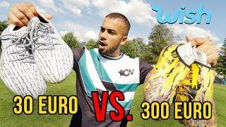300€ VS 30€ Wish Fussballschuhe TEST!!