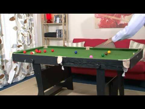 www.MadFun.co.uk - BCE / Riley - 6ft Folding Leg Snooker / Pool Table (FS-6)
