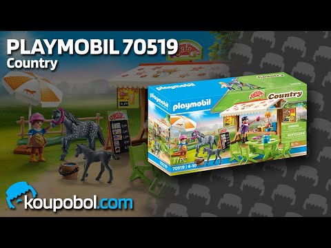 Vidéo PLAYMOBIL Country 70519 : Café du poney club