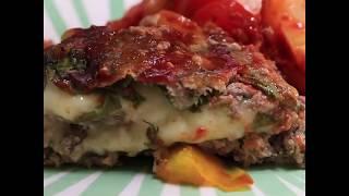Нежный мясной рулет с моцареллой и шпинатом   Рецепт говяжьего рулета с овощами