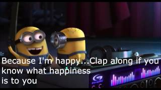 Pharrell Williams Happy Lyrics (Despicable Me 2)