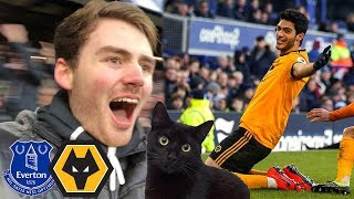JIMENEZ IS ON FIRE! Everton Vs Wolves 1-3 Matchday Vlog (ft. Cat On The Pitch)