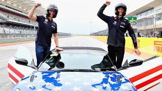 Daniel Ricciardo and Max Verstappen find the Austin Track Limits