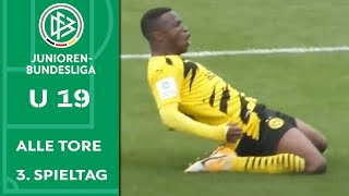Nächster Dreierpack! Moukoko versenkt Schalke   Alle Tore A-Junioren-Bundesliga   3. Spieltag