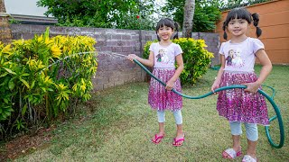 หนูยิ้มหนูแย้ม ฝึกทำงานบ้าน รดน้ำต้นไม้