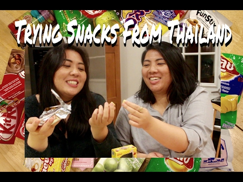Thai Americans Try Thai Snacks | Victoriawhatevs