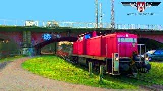 preview picture of video 'Industriebahn Lüneburg - BR 295 holt Wagen von Johnson Controls'