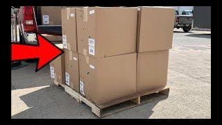 I bought a $2,007 Amazon Customer Returns Electronics Liquidation Pallet with HUGE MYSTERY BOXES