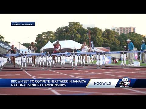 Arkansas hurdler Janeek Brown defies odds, makes history in 100-meter hurdles