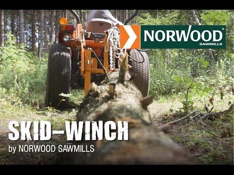 Cabestrante de Arrastre Hidráulico de Norwood p/ Troncos Montado en Tractor p/ Propietarios Privados