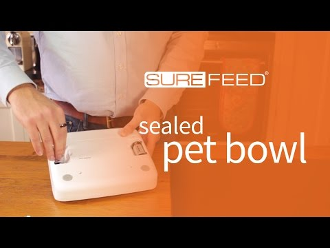 Changing the batteries in the Sealed Pet Bowl