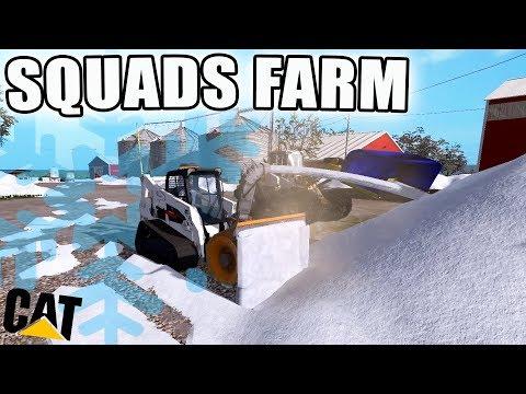 Snow blower vs truck with snow plow - Farming Simulator 2017