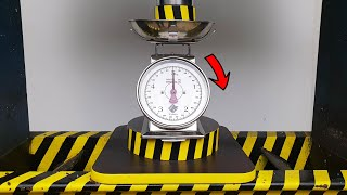 EXPERIMENT HYDRAULIC PRESS 100 TON vs Mechanical Weighing Scale