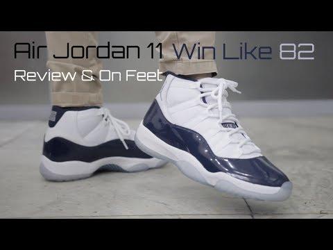 523b85bcc88c9d Download Air Jordan 11 Win Like 82 Midnight Navy Review   On Feet MP3