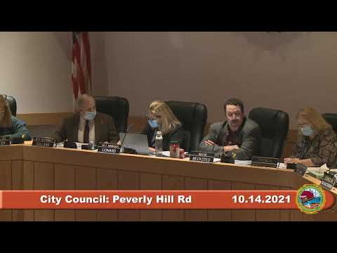 10.14.2021 City Council Peverly Hill Road Improvement Plan