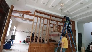 Great Interior Ideas, How To Install Wooden Walls Of Asian Carpenters