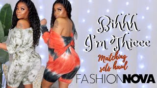I'VE GAINED WEIGHT -MATCHING SETS TRY ON HAUL Ft  Fashion Nova