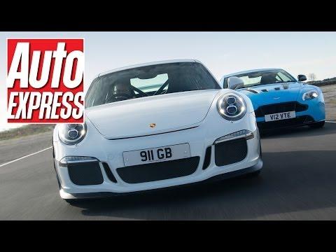 Porsche 911 GT3 vs Aston Martin V12 Vantage S on track