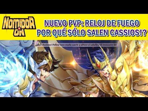 🔱NUEVO PVP RELOJ DE FUEGO🔱Todos con Hades y Fenix y yo con Cassios- Saint Seiya Awakening PVP LUCHAS