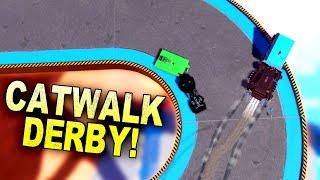 Team Destruction Derby, But On Skinny Catwalks! - Trailmakers Multiplayer