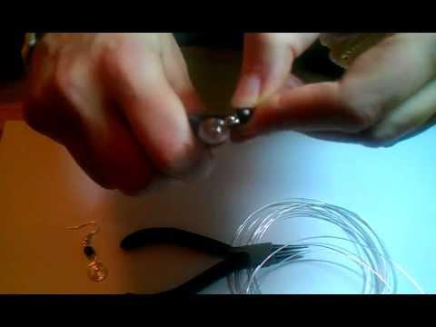 Ohrringe aus Silberdraht selber machen - Anleitung für Ohrringe mit einer Holzperle