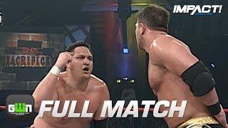 AJ Styles vs Samoa Joe: FULL MATCH (TNA Sacrifice 2007)   IMPACT Wrestling Full Matches