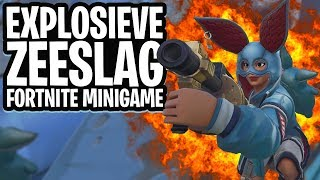 EXPLOSIEVE ZEESLAG MINI-GAME!  - Fortnite: Battle Royale Playground (Nederlands)
