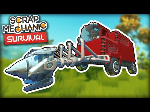Upgrading the Rock Mining Combine with Dual Refineries! (Scrap Mechanic Survival Ep.32)