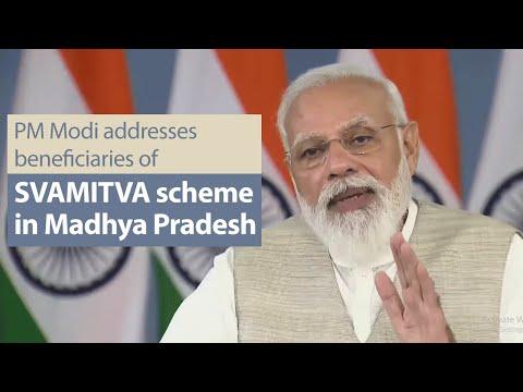 PM Modi addresses beneficiaries of SVAMITVA scheme in Madhya Pradesh   PMO