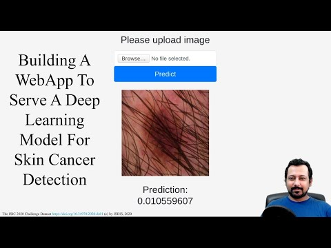 Build a web-app to serve a deep learning model for skin cancer detection