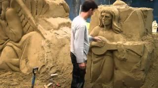 preview picture of video 'Presepe di Sabbia Bellaria Igea Marina festività 2013'