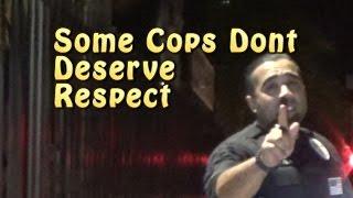 Disrespectful Cop Gets Tom Zebra Training