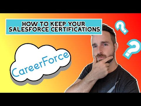 Salesforce Certification Maintenance - HOW TO LINK YOUR CERTS ...