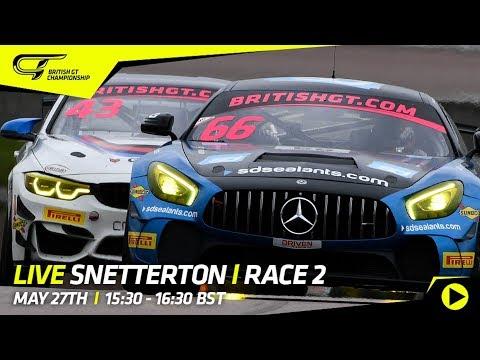 LIVE - Race 2 - Snetterton - British GT 2018