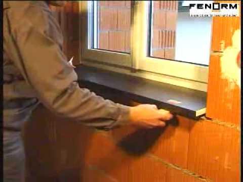 Montagevideo fenorm Innenfensterbank mit 2 Komponenten Montageschaum