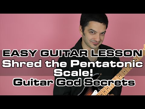 Easy Electric Guitar Lessons - SHRED the Pentatonic Scale - Play Guitar Fast!
