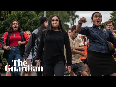 New Zealand students honour the victims by performing impromptu haka. Go you bloody good things