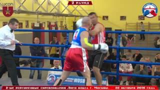 2-ые рейтинговые бои Лига бокса г. Москвы  – 22.10.16 г. до 91 кг.