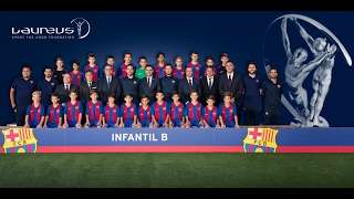 FC Barcelona U-12B team thankful for having been honored with Laureus Award