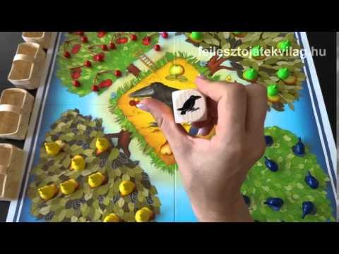 Haba Gyümölcsöskert játékszabály, kooperációs, azaz együttműködő társasjáték, 3-8 év - Fejlesztő Játék Világ