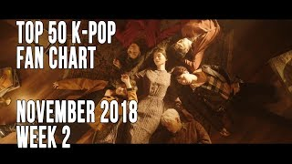 Top 50 K-Pop Songs Chart - November 2018 Week 2 Fan Chart