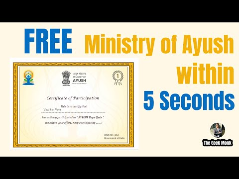 Ministry of AYUSH Certificate   Free online Certificate courses   The ...