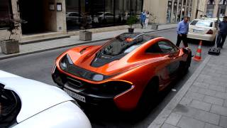 preview picture of video 'Bugatti, McLaren P1 and LaFerrari spottet together in Munich - Munichs' best Lineup'