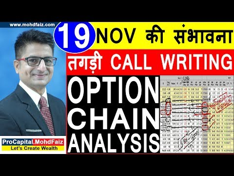 19 NOV की संभावना तगड़ी CALL WRITING | NIFTY OPTION CHAIN ANALYSIS