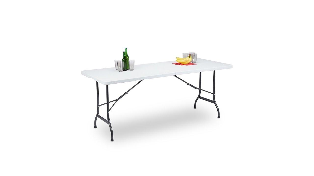 Gartentisch Klappbar Weiss Bestellen Relaxdays De