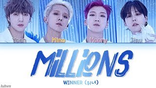 Gambar cover WINNER (위너) - 'MILLIONS' LYRICS [HAN|ROM|ENG COLOR CODED] 가사