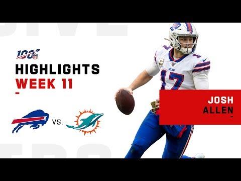 Josh Allen Dismantles Dolphins w/ 3 TDs   NFL 2019 Highlights
